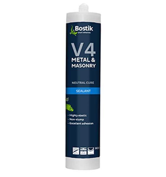 Bostik V4 Silicone Sealant Non Acetic 370gm Tube White