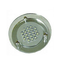 12V LED Plexi Spotlight with 21 LED Round & Clear Lens - DSC21