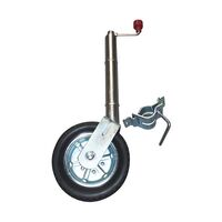 "Alko 10"" Solid Tyre Jockey Wheel With Clamp"