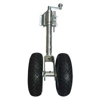 Solid Rubber Twin Jockey Wheel (With Clamp)