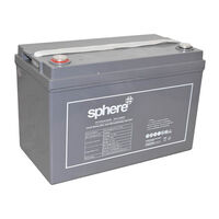 Sphere 12V Valve Regulated AGM Rechargeable Battery 120AH