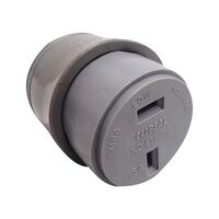 Clipsal 438/32 Fixed Polarity Cord Socket Grey. Cli438/32gy