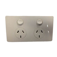 CMS Power Outlet Double Natural White
