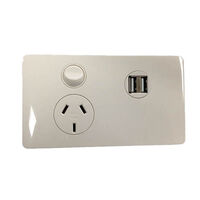 CMS Power Outlet - Single Natural White and Dual 4A Usb