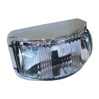 L.E.D Front End Outline Marker Lamp White - Chrome Base. 91612c