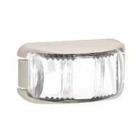 LED Front End Outline Marker Lamp White - White Base 91612w