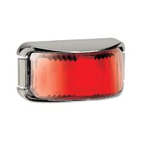 LED Rear End Outline Marker Lamp Red - Chrome Base. 91632c