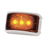 Coast Led Front Marker Lamp Amber-White Bracket. 22336wcak-W