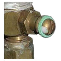 "Gas Testing Nipple 3/8"" Flare X 3/8"" Male. C6446c"