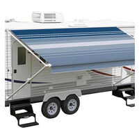 Carefree Fiesta Roll Out Awnings (No Arms) - Ocean Blue Dune