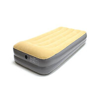 Oztrail Velour Air Mattress Double Height King Single 35cm