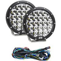 "7"" Ultralite Series 105W LED (PAIR) Driving Light 1 Lux@1074M + Harness"