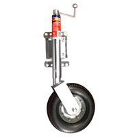 "Swing-Away Jockey 340kg Load Rating 10"" Rubber Wheel Suits Acle 5/8"""