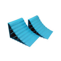 Wheel Chock Colour Teal - Pair