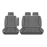 Tuff Terrain Canvas Grey Seat Covers to Suit Ford Transit VO Van Crew Cab Bucket & 3/4 Seats 14-On FRONT