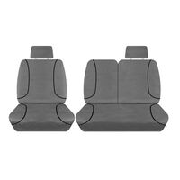 Tuff Terrain Canvas Grey Seat Covers to Suit Hyundai iLoad TQ 3/6 Seater Van 08-On FRONT