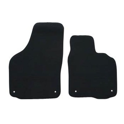 Floor Mats For Toyota Yaris  Ncp90R/91R/93R (Hatch) Oct 2005 - Oct 2011 Black 2Pce