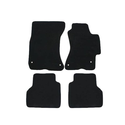Floor Mats For Toyota Yaris NCP130R/131R (Hatch) Nov 2011 - Onwards Black 4Pce
