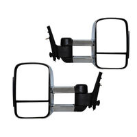 Extendable Towing Mirrors For Ford Ranger 2012-Onwards - Chrome, Manual
