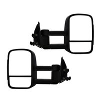 Extendable Towing Mirrors For Nissan Navara D40 05-15/Pathfinder 05-11 - Black, Electric