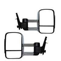 Extendable Towing Mirrors For Nissan Navara D40 05-15/Pathfinder 05-11 - Chrome, Electric