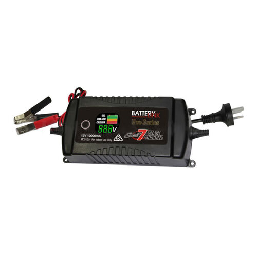 7 Stage Smart Battery Charger MCU 12V 12.0amp